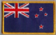 New Zealand Embroidered Flag Patch, style 08.